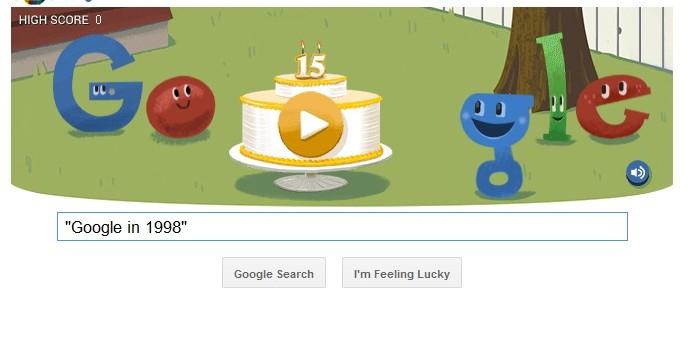 Google marks 15th birthday with 1998 Easter egg   The Drum