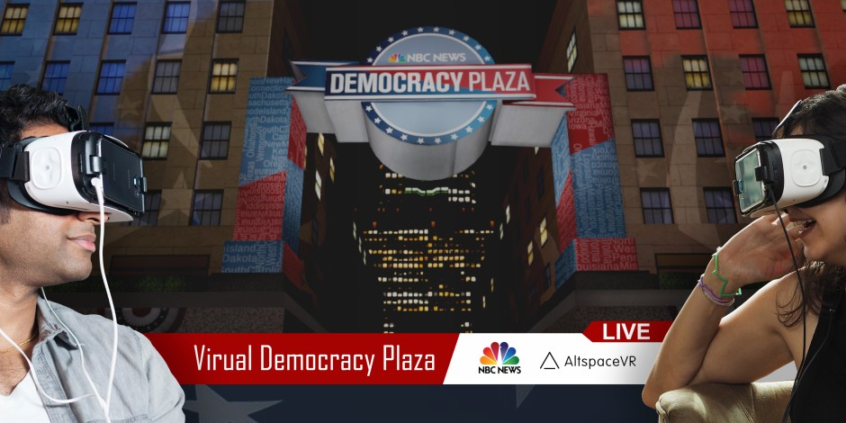 Nbc News Is Adding A Vr Component To Its Democracy Plaza Execution For The 2016 Election