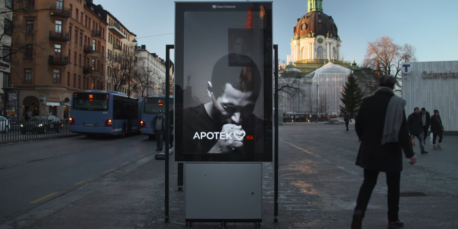 Swedish pharmacy uses electronic ad board to humiliate smokers