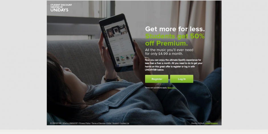 Spotify partners with UniDays as part of a wider push in the