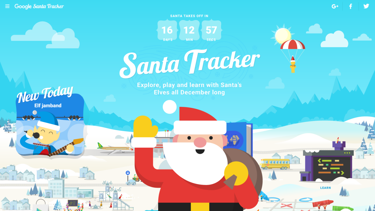 Google Gets Into The Holiday Spirit With Santa Tracker