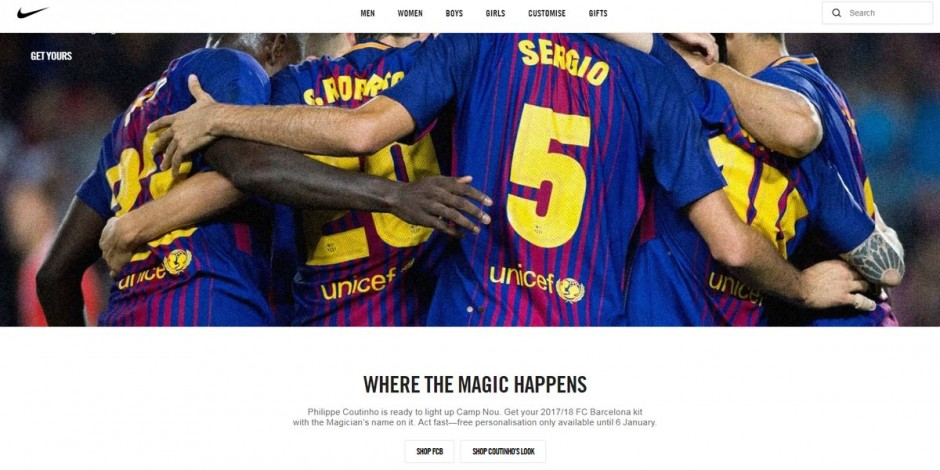 3217c3d0d46 Nike pulls off the website ad claiming Philippe Coutinho's transfer to FC  Barcelona