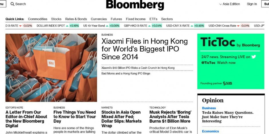 Bloomberg goes behind paywall after success with Businessweek
