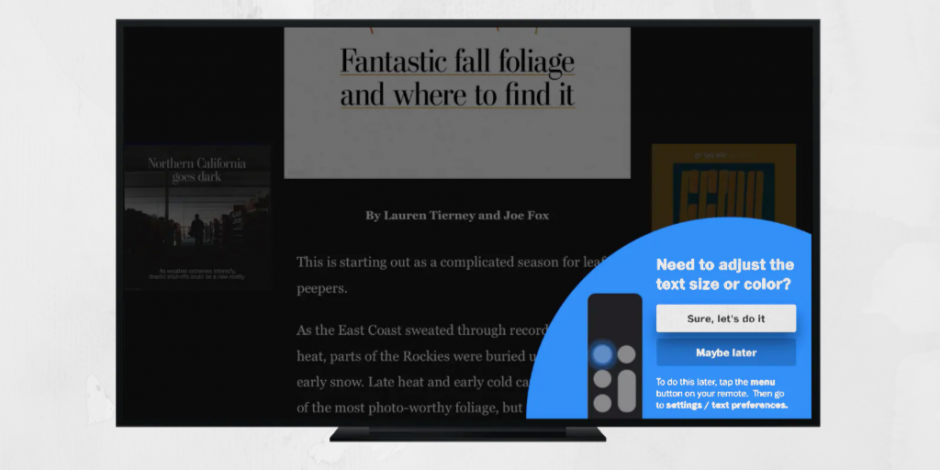 The Washington Post now has a connected TV app, but it's not a video product