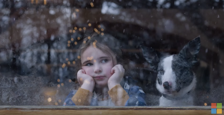 Girl tries to translate Christmas questions into reindeer in Microsoft holiday ad